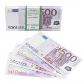 Деньги для выкупа, 500 Евро, 16*7 см, 98 шт.