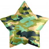 Шар (19''/48 см) Звезда, Камуфляж, Военный, 1 шт.