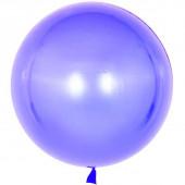 Шар (18''/46 см) Сфера 3D, Deco Bubble, Сиреневый, Кристалл, 10 шт.
