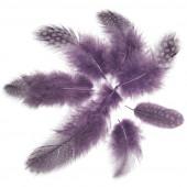 Перья Жемчужные, Фиолетовый, 80 шт.