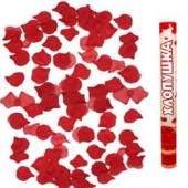 Пневмохлопушка (16/40 см), Лепестки роз, Красный, 1 шт.