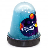 Слайм, Космос, Синий, с блестками, флюор, 130 г, 1 шт.