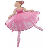 Шар (45''/114 см) Фигура, Балерина, 1 шт.