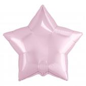 Шар (19''/48 см) Звезда, Нежно-розовый, 1 шт.