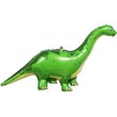 Шар (51''/130 см) Фигура, Динозавр Диплодок, Зеленый, 1 шт.