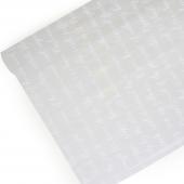 Упаковочная пленка (0,7*8 м) Рукопись, Белый, 1 шт.