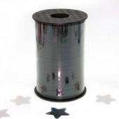 Лента (0,5 см*250 м) Черный, Металлик, 1 шт.