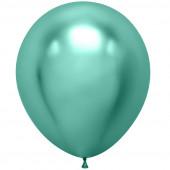 Шар (18''/46 см) Зеленый, хром, 10 шт.