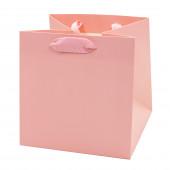 Пакет подарочный, Люкс, Розовый, 16*16*16 см, 1 шт.