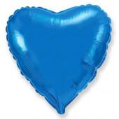 Шар (32''/81 см) Сердце, Синий, 1 шт.