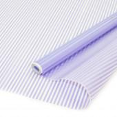 Упаковочная матовая пленка (0,7*8,8 м) Тонкие полоски, Яркий фиолетовый, 1 шт.