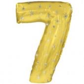 Шар (42''/107 см) Цифра, 7 Искры, Золото, 1 шт. в упак.