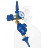 Насадка с манометром и 2 клапанами, наклонным и плавного нажатия с отсечным клапаном, 1 шт.