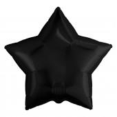 Шар (19''/48 см) Звезда, Черный, 1 шт.
