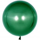 Шар с клапаном (18''/46 см) Сфера 3D, Deco Bubble, Зеленый, Хром, 1 шт.