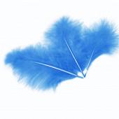 Перья, Голубой, 10*15 см, 30 шт.