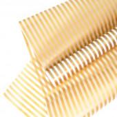 Упаковочная пленка матовая (0,6*8 м) Полосы Люкс, Золото, 1 шт.