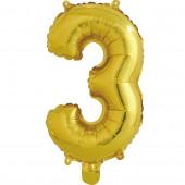 Шар с клапаном (16''/41 см) Мини-буква, З, Золото, в упаковке 1 шт.