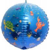Шар (24''/61 см) Сфера 3D, Подводный мир, 1 шт.