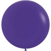 Шар (24''/61 см) Фиолетовый (051), пастель, 3 шт.