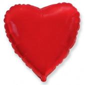 Шар (32''/81 см) Сердце, Красный, 1 шт.