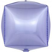 Шар 3D (24''/61 см) Куб, Сиреневый, 1 шт.