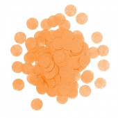 Конфетти тишью Круг, Оранжевый, 1 см, 7 гр.
