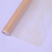 Упаковочная пленка матовая (0,6*7,5 м) Эколюкс, Кремовый, 1 шт.