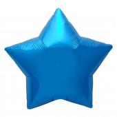 Шар (19''/48 см) Звезда, Синий, 1 шт.