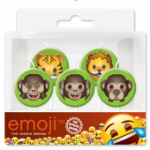 Свечи Круг, Смайл, Emoji, Джунгли, 7 см, 5 шт.