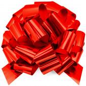 Бант Шар, Красный, Металлик, 36 см, 1 шт.