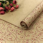 Упаковочная бумага, Крафт 70гр (0,7*10 м) Экошик, Барбарис, Красный, 1 шт.