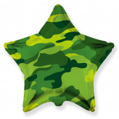 Шар (32''/81 см) Звезда, Камуфляж, 1 шт.