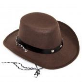 Шляпа Ковбой, Коричневый, 1 шт....