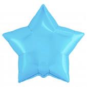 Шар (19''/48 см) Звезда, Холодно-голубой, 1 шт.