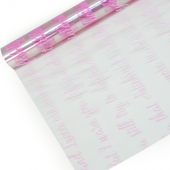 Упаковочная пленка (0,7*8 м) Рукопись, Розовый, 1 шт.