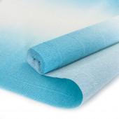 Упаковочная гофрированная бумага (0,5*2,5 м) Голубой, Градиент, 1 шт.