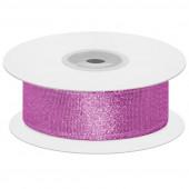 Лента декоративная (2,5 см*22,85 м) Мерцающий блеск, Розовая сирень, Металлик, 1 шт.