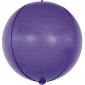 Шар (24''/61 см) Сфера 3D, Макарунс, Фиолетовый, 1 шт.