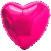 Шар (18''/46 см) Сердце, Фуше, 1 шт.