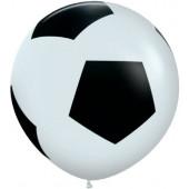 Шар (36''/91 см) Футбольный мяч, Белый (005), пастель, 5 ст, 1 шт.