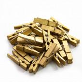 Декоративные прищепки Золото, 3,5 см, 25 шт.