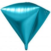 Шар 3D (24''/61 см) Алмаз, Синий, 1 шт.