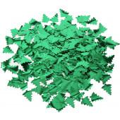 Конфетти фольга Елочки, Зеленый, Металлик, 3 см, 50 г.