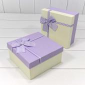 Набор коробок Элегантный бант, Сиреневый, 19*19*9 см, 3 шт.