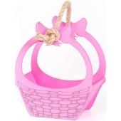 Декоративный ящик Лукошко, Розовый, 21*24*11 см, 1 шт.