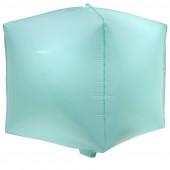Шар 3D (20''/51 см) Куб, Макарунс, Светлая мята, 1 шт.