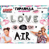 Гирлянда Love is in the air!, 160 см, 1 шт.