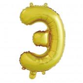 Шар с клапаном (16''/41 см) Мини-буква, Э, Золото, 1 шт. в упак.
