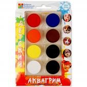 Аквагрим профессиональный, Палитра Прямоугольник, 8 цветов
